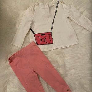Kate Spade toddler 2pc outfit.